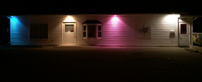 DeWitt studio at night